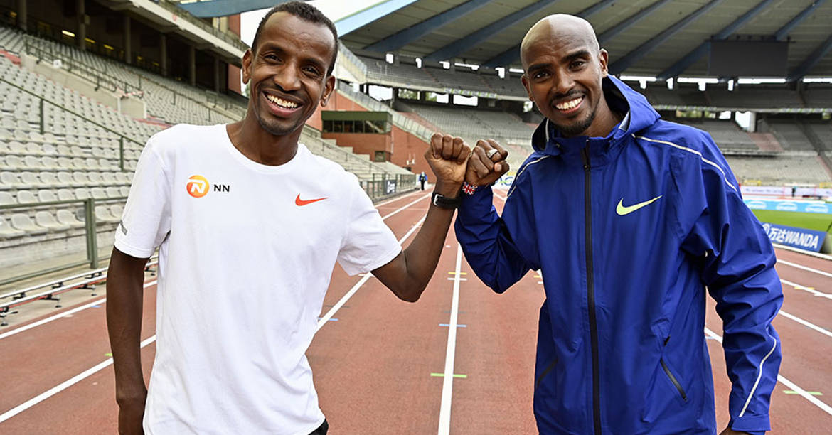SQM Time goes international with Mo Farrah and Bashir Abdi